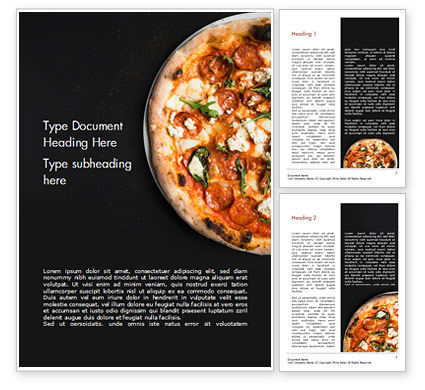 Pepperoni Pizza Word Template, 15269, Food & Beverage — PoweredTemplate.com