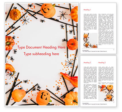 Halloween Decorations Word Template, 15276, Holiday/Special Occasion — PoweredTemplate.com