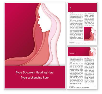 Careers/Industry: Woman Silhouette Word Template #15284