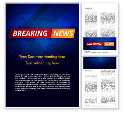 Careers/Industry: Breaking News Background Word Template #15291