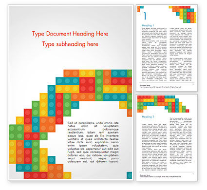 Business Concepts: Colorful Lego Blocks Word Template #15301