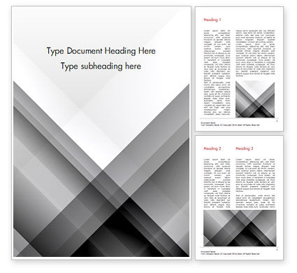 Gray Diagonal Stripes Word Template, 15308, Abstract/Textures — PoweredTemplate.com