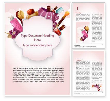 Careers/Industry: Women's Cosmetics Word Template #15312