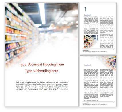 Supermarket Word Template, 15315, Careers/Industry — PoweredTemplate.com