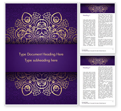 Abstract/Textures: Purple Indian Pattern Presentation Template #15321