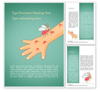 Mosquito Bites Word Template, 15325, Medical — PoweredTemplate.com