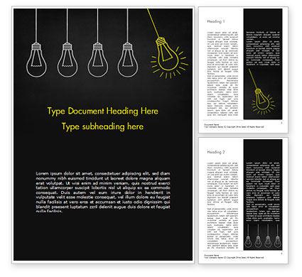 Trigger Creativity Word Template, 15329, Education & Training — PoweredTemplate.com