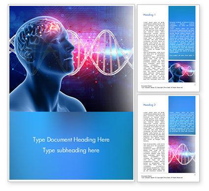 Medical: 脳の仕事のコンセプト - Wordテンプレート #15347