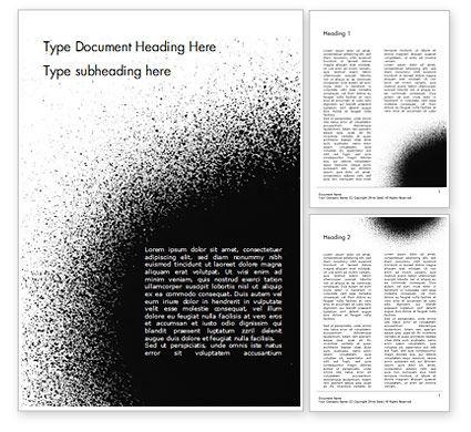 Abstract/Textures: Templat Word Titik Hitam #15358