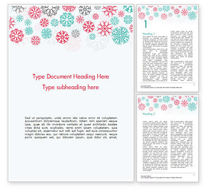 Colorful Snowflakes Background Word Template, 15366, Abstract/Textures — PoweredTemplate.com