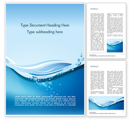 Drinking Water Supply Word Template, 15369, Nature & Environment — PoweredTemplate.com