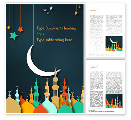 Eid al-Adha Theme Word Template, 15377, Religious/Spiritual — PoweredTemplate.com