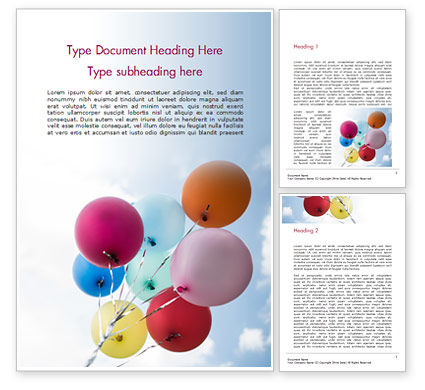 Holiday/Special Occasion: Bunch of Balloons Word Template #15386