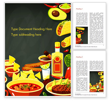 Food & Beverage: Mexican Food Word Template #15396