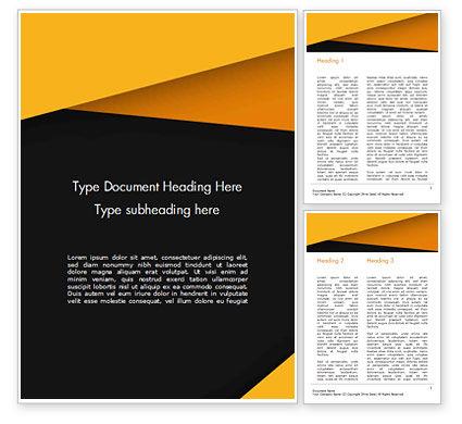 Abstract/Textures: Modelo do Word - abstração de preto e amarelo #15402
