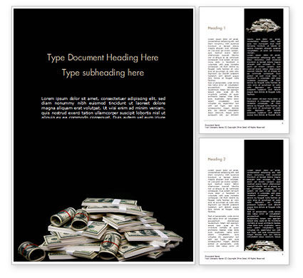 Financial/Accounting: Money Packs Word Template #15405