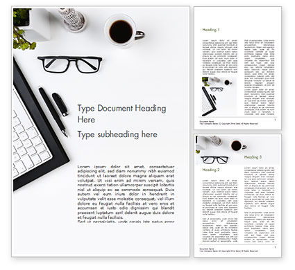 Business: Moderne Werkplek Word Template #15406