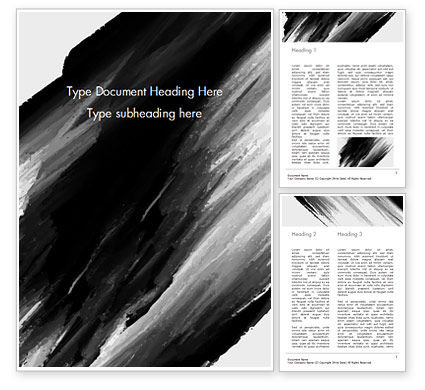 Abstract/Textures: Black Watercolor Brush Stroke Word Template #15408