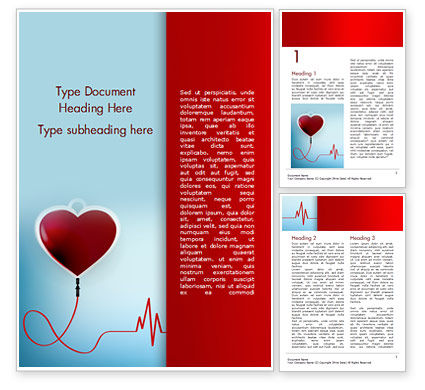 Medical: Blood Donation Concept Word Template #15422
