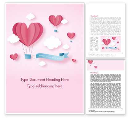 Holiday/Special Occasion: Love is in the Air Word Template #15429