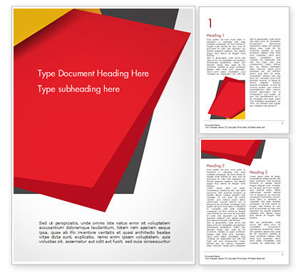 Abstract/Textures: Geometric Black Red and Yellow Word Template #15430