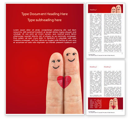 Holiday/Special Occasion: Fingers in Love Word Template #15439