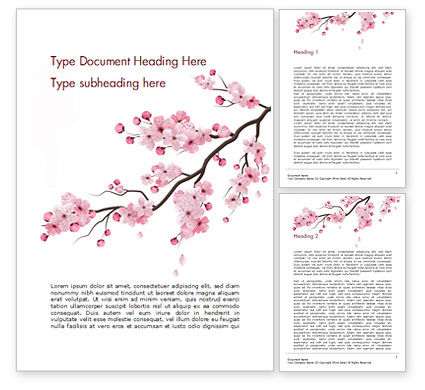 Nature & Environment: Sakura Word Template #15448