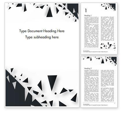 Abstract/Textures: Samenvatting Gebroken Zwart Glas Word Template #15467