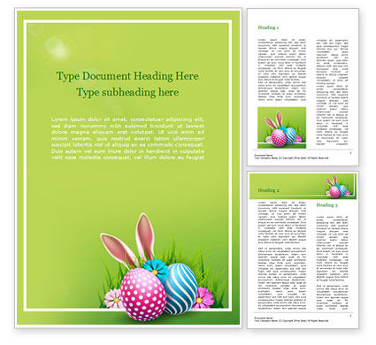 Holiday/Special Occasion: Cute Easter Background Word Template #15509