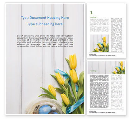 Holiday/Special Occasion: Nice Easter Background Word Template #15511