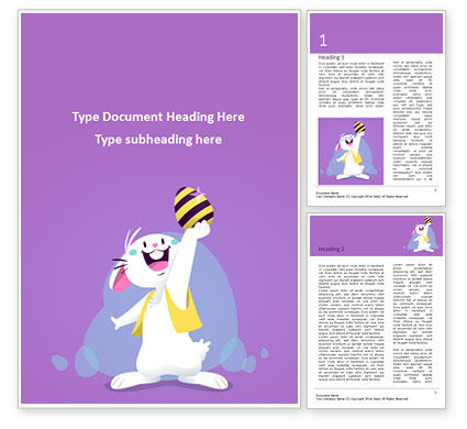 Holiday/Special Occasion: Funny Easter Bunny Word Template #15527