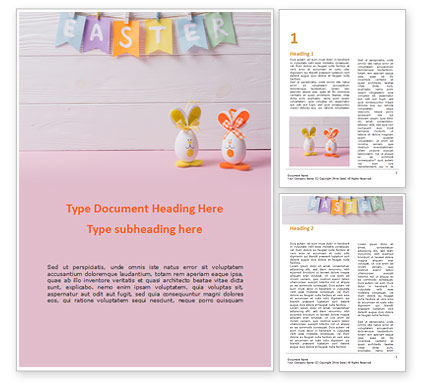 Holiday/Special Occasion: Funny Easter Eggs Word Template #15529