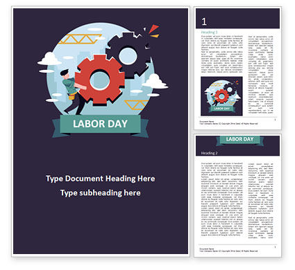Holiday/Special Occasion: International Workers' Day Word Template #15534