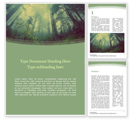 Nature & Environment: Dark Forest Word Template #15549