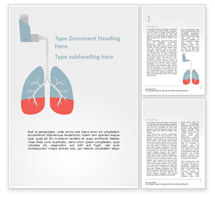 Medical: Asthma Concept Word Template #15552