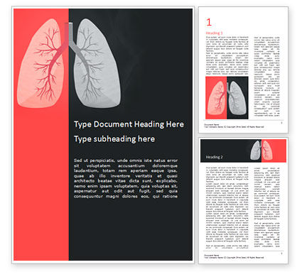 Medical: 喫煙者の肺 - Wordテンプレート #15572