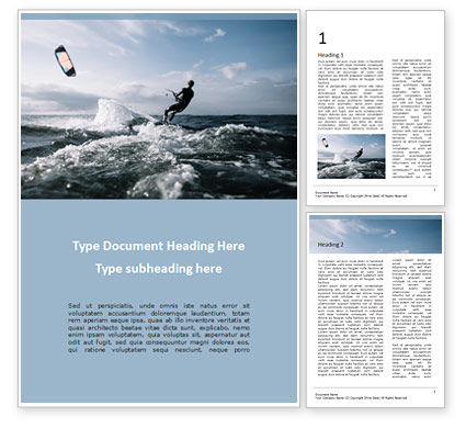 People: Kitesurfing Word Template #15577