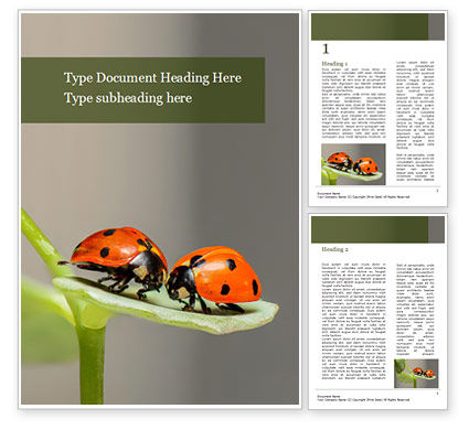 Nature & Environment: Insects Communication Word Template #15588