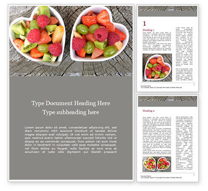 Food & Beverage: Healthy Fruit Salad Word Template #15595
