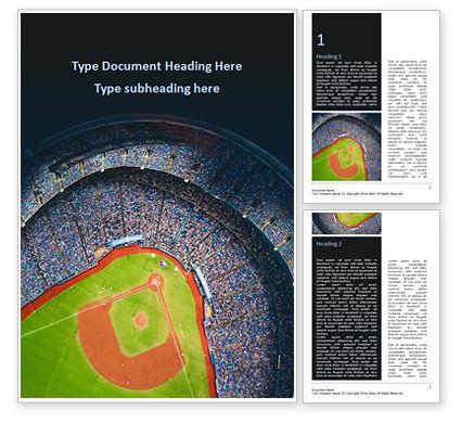 Sports: Baseball Stadium Word Template #15596