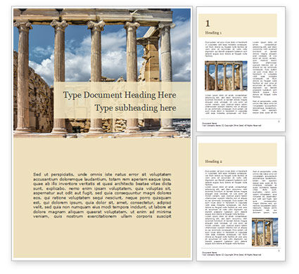 Construction: Acropolis Word Template #15614
