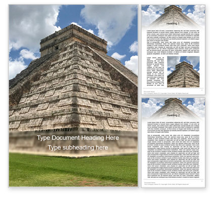 Construction: Mesoamerican Pyramid Word Template #15617