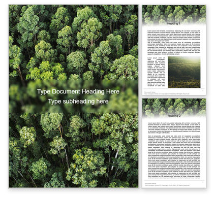 Nature & Environment: Tropical Rainforest Canopy From Above Word Template #15618