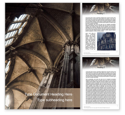 Construction: Medieval Cathedral Ceiling Word Template #15629