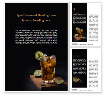 Food & Beverage: Iced Tea Word Template #15631