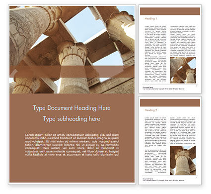 Construction: Karnak Temple Word Template #15634