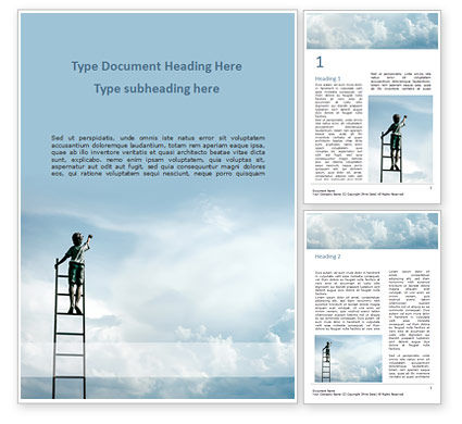 Business Concepts: Reach the Sky Word Template #15635