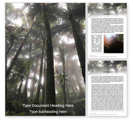 Nature & Environment: Tropical Rainforest Word Template #15639