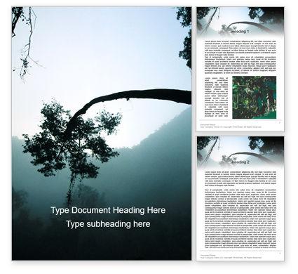 Nature & Environment: Rainforest Sunrise Word Template #15640