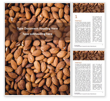 Food & Beverage: Templat Word Badam #15646